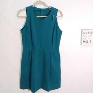 Madewell Teal Verse Dresssize L New with tags